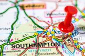 istock European cities on map series: Southampton 486695289
