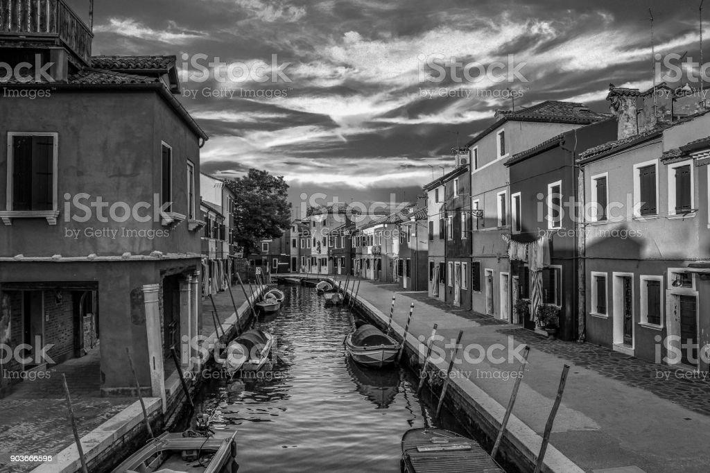 European Cities - Venice Burano Island stock photo