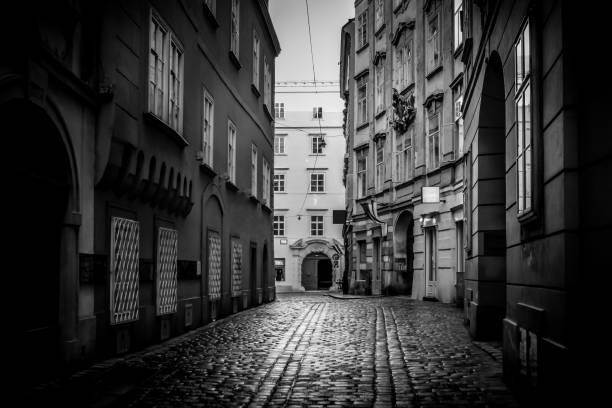 european cities - vien street - eisenstadt austria stock-fotos und bilder