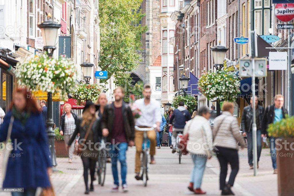 European city center stock photo