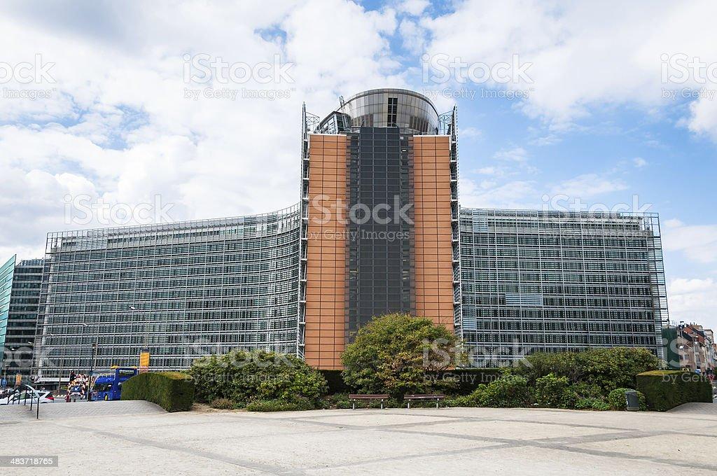 European comission building in Brussels, Belgium stock photo