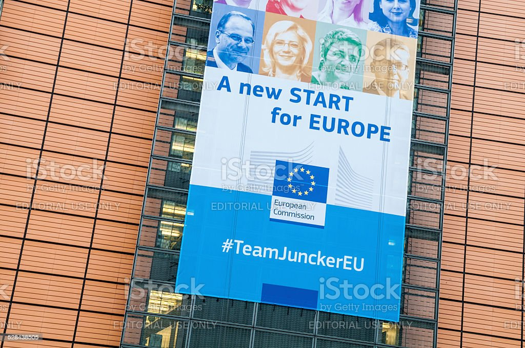 European Commision Team guided by Junker stock photo