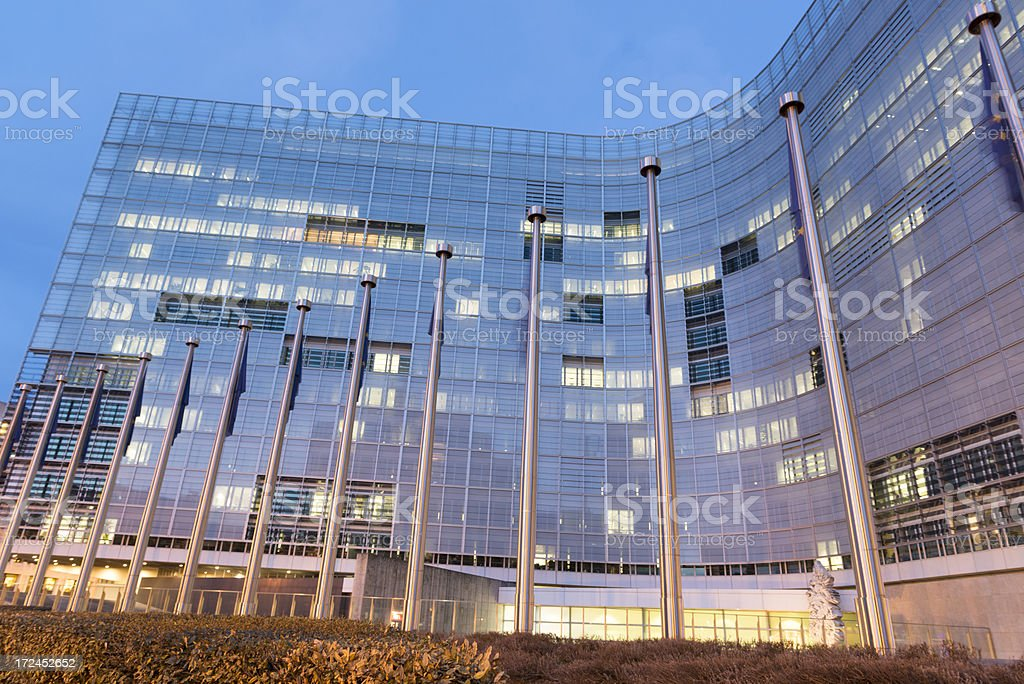 European Commission Building stock photo