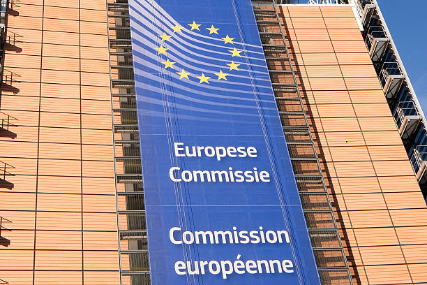 European Commission BRUSSELS, BELGIUM - November 30, 2016:The Berlaymont is an office building that houses the headquarters of the European Commission, which is the executive of the EU,  berlaymont stock pictures, royalty-free photos & images