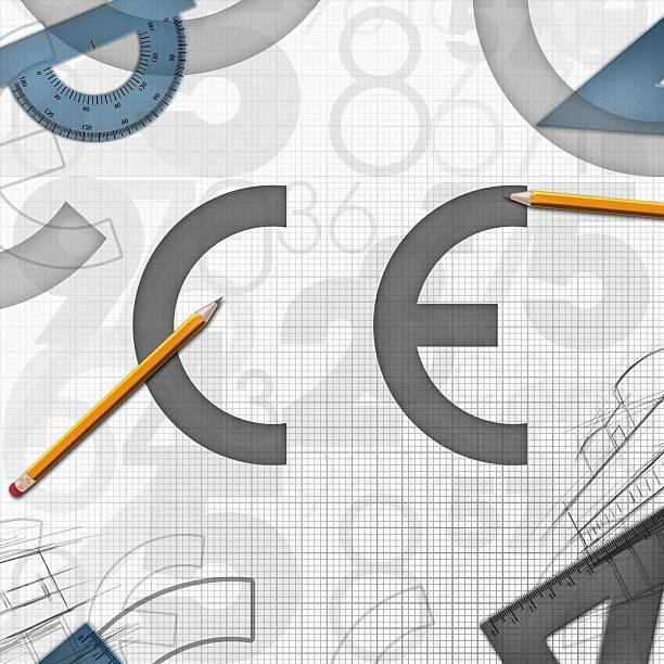 CE Wspólnoty Europejskiej tle Ilustracja – zdjęcie
