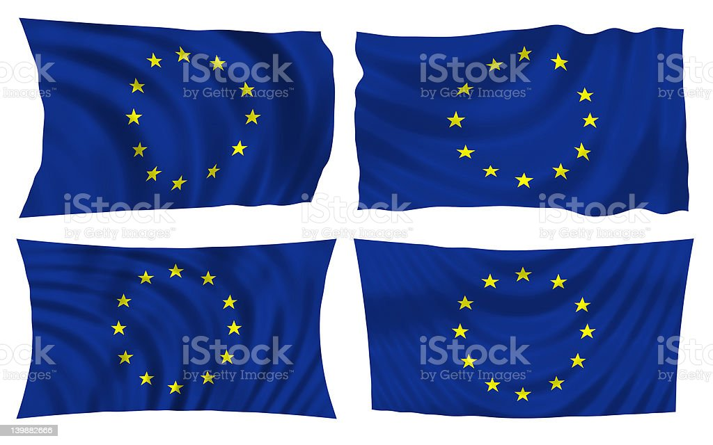 european community flag royalty-free stock photo