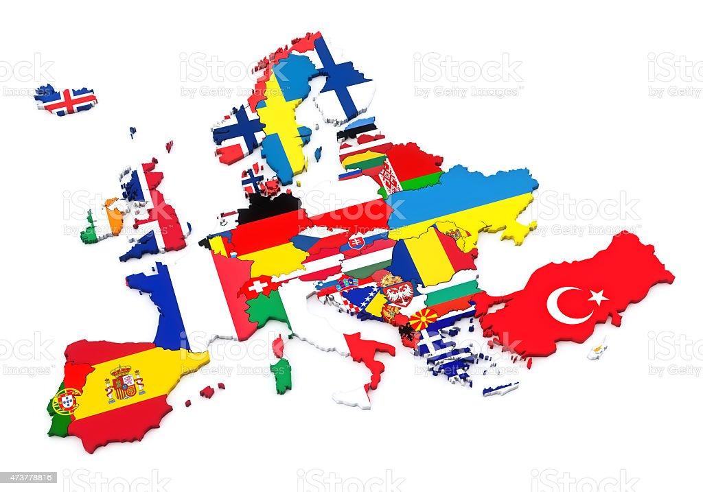 European Countries stock photo