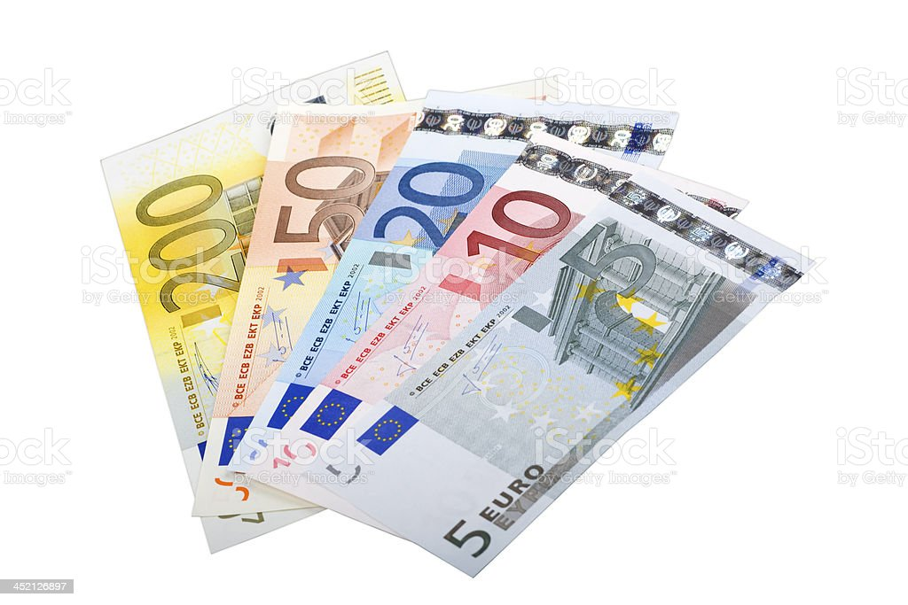 European currency banknotes stock photo