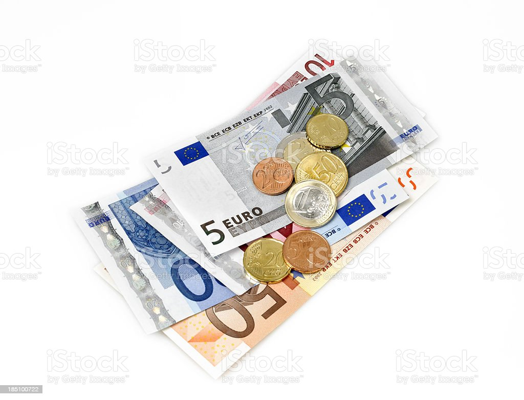 European currency stock photo