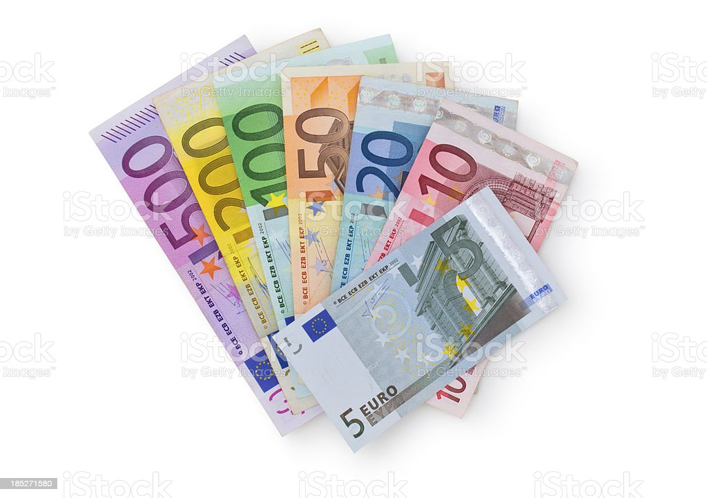 European currency. stock photo