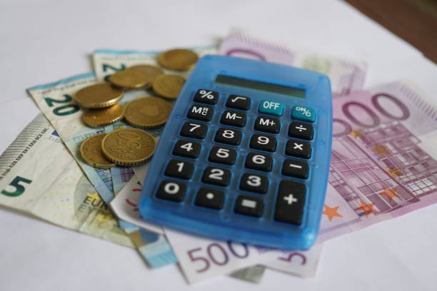 european currency - rates stock photos and pictures