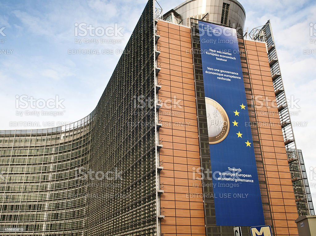 European Economic Issues Ads, Brussels royalty-free stock photo