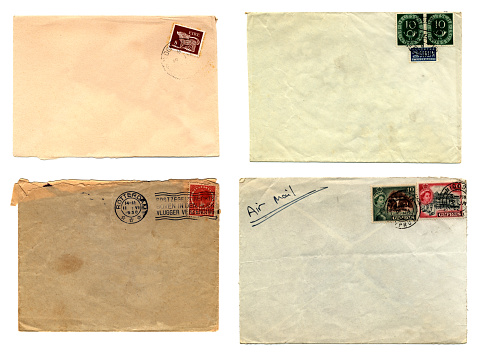 Four envelopes from Europe - Eire (Republic of Ireland), Germany (West Berlin), Holland and Cyprus.