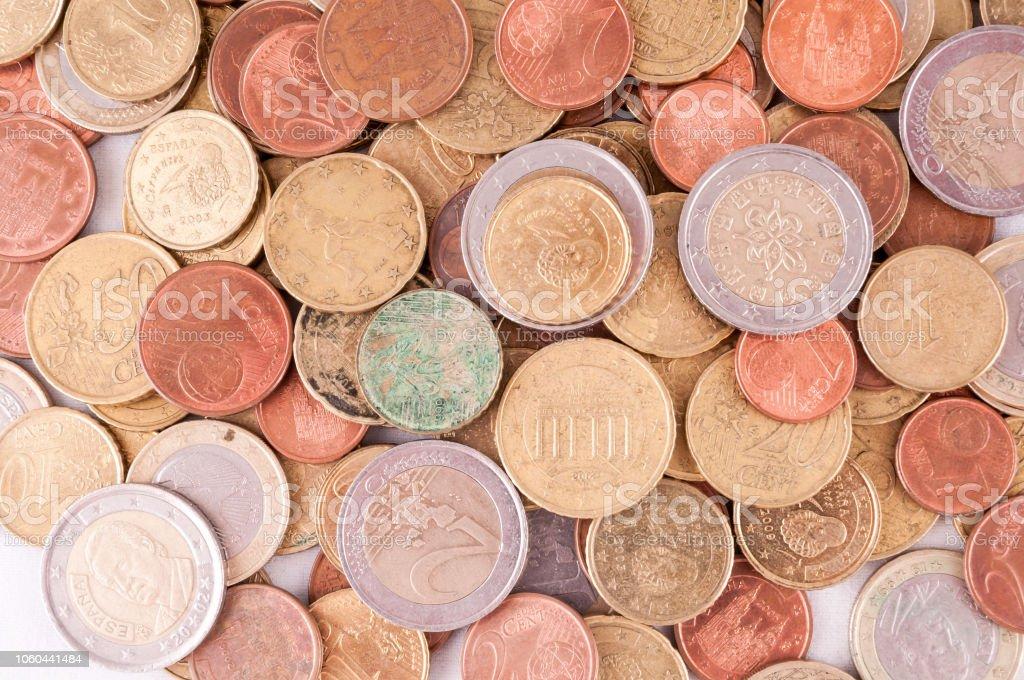European Euro Currency Texture stock photo