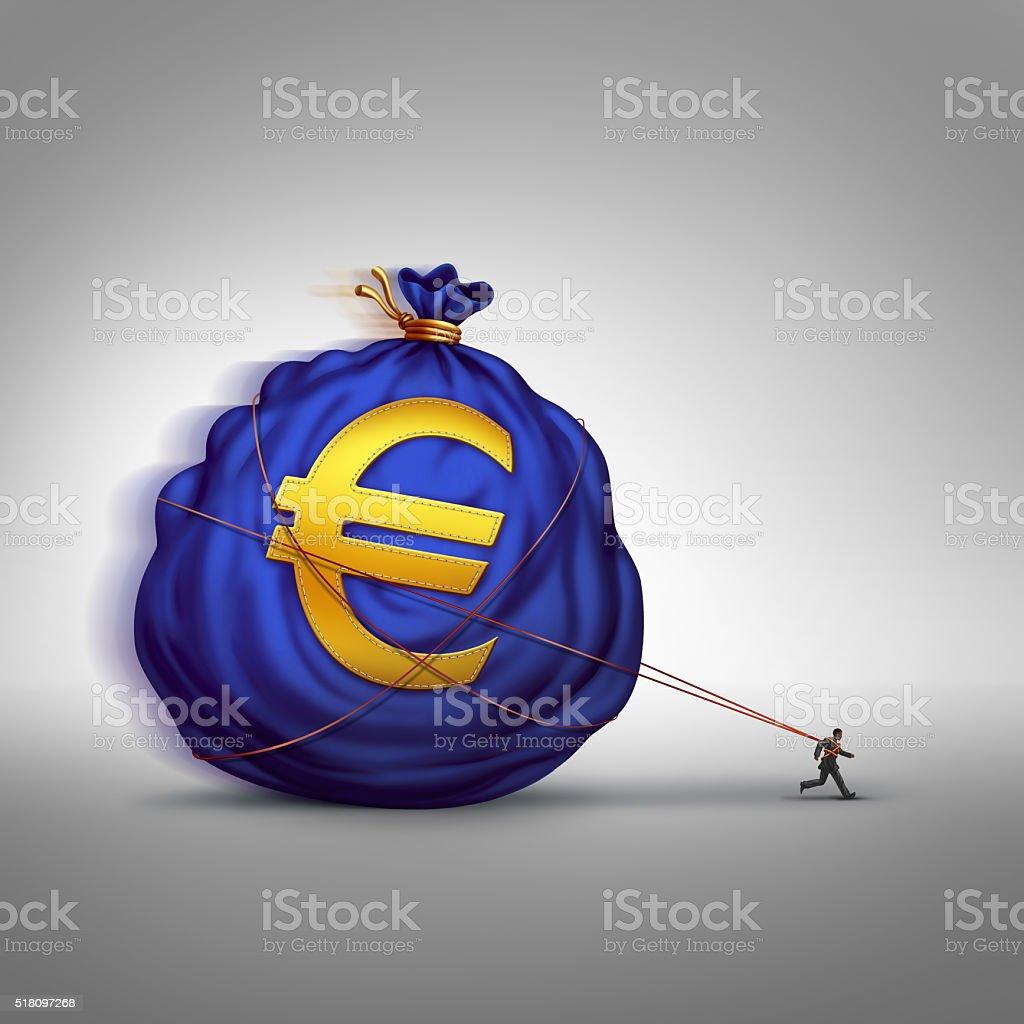 European Financial Stress stock photo