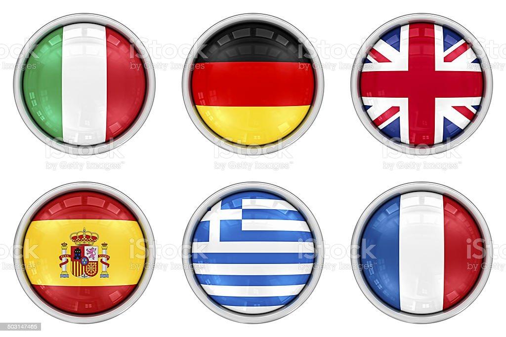 european flag buttons royalty-free stock photo