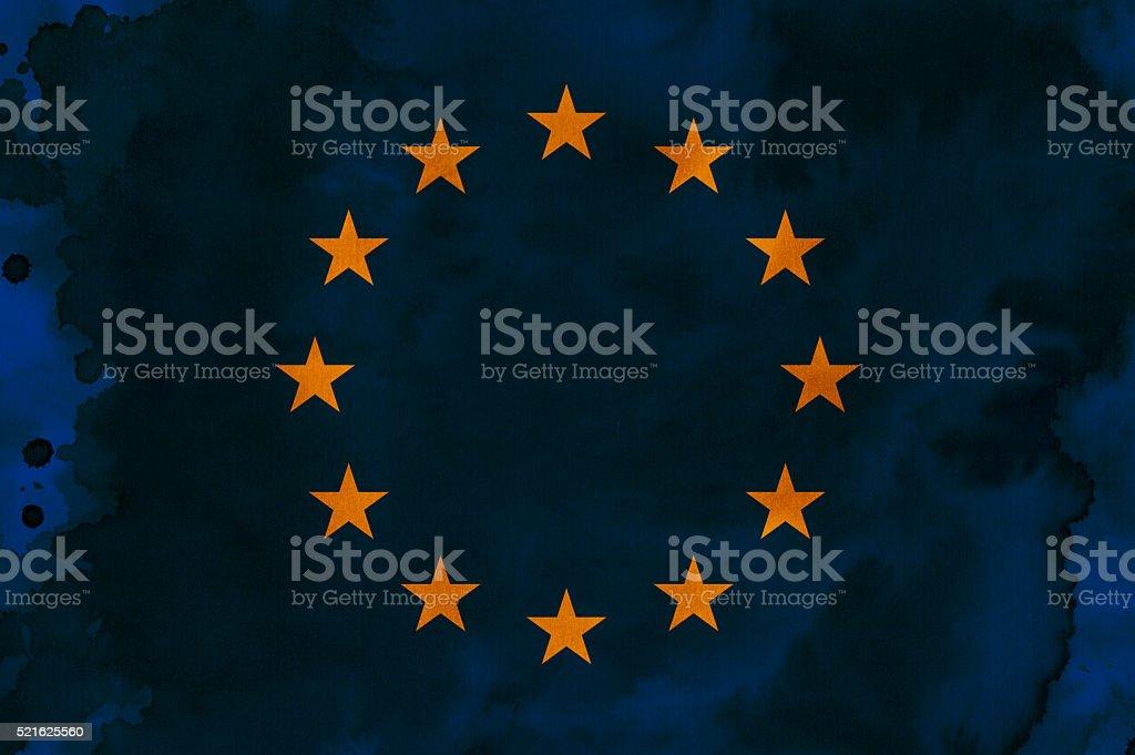 European flag illustraton stock photo