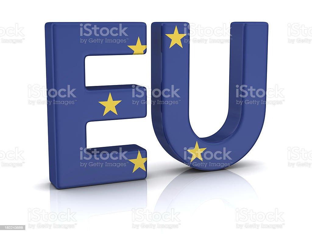european flag on EU royalty-free stock photo