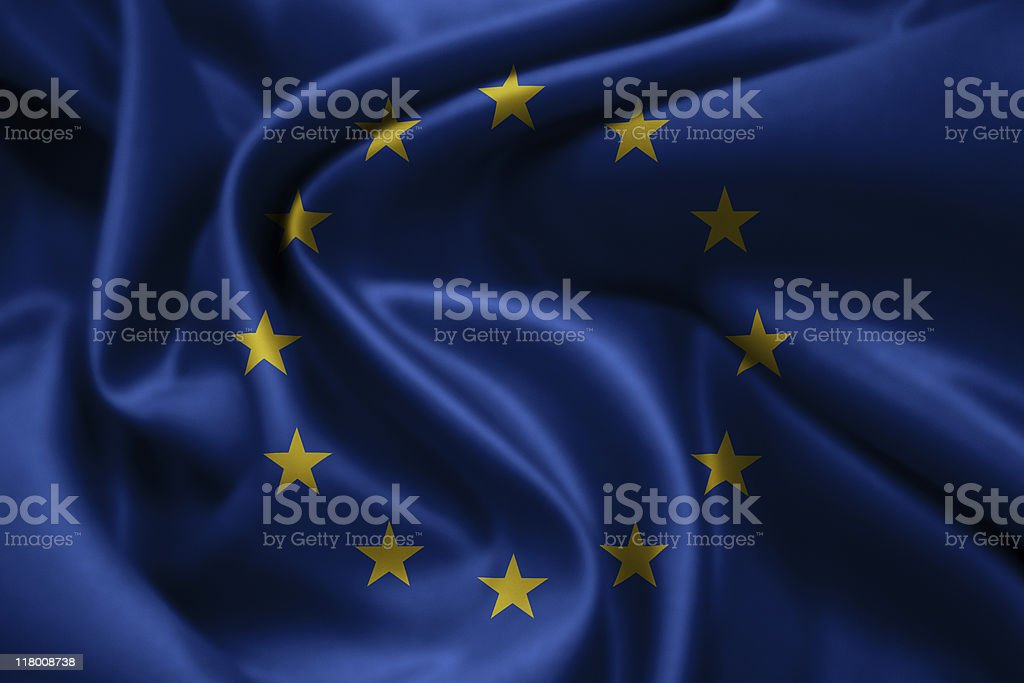 3D European Flag XXXL royalty-free stock photo