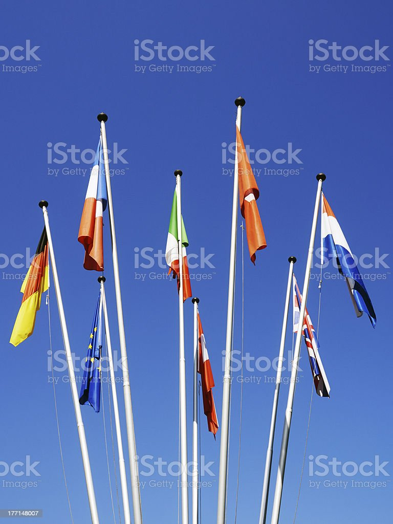 European Flags. Color Image royalty-free stock photo
