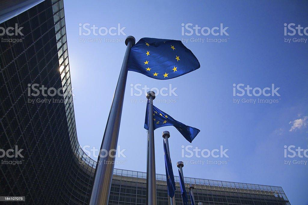 Banderas europeas de Bruselas - foto de stock