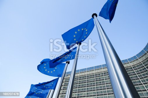 istock European flags in front of the Berlaymont building in Brussels 165207478
