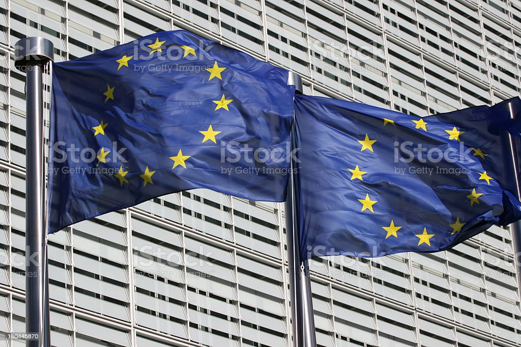 European Flags royalty-free stock photo