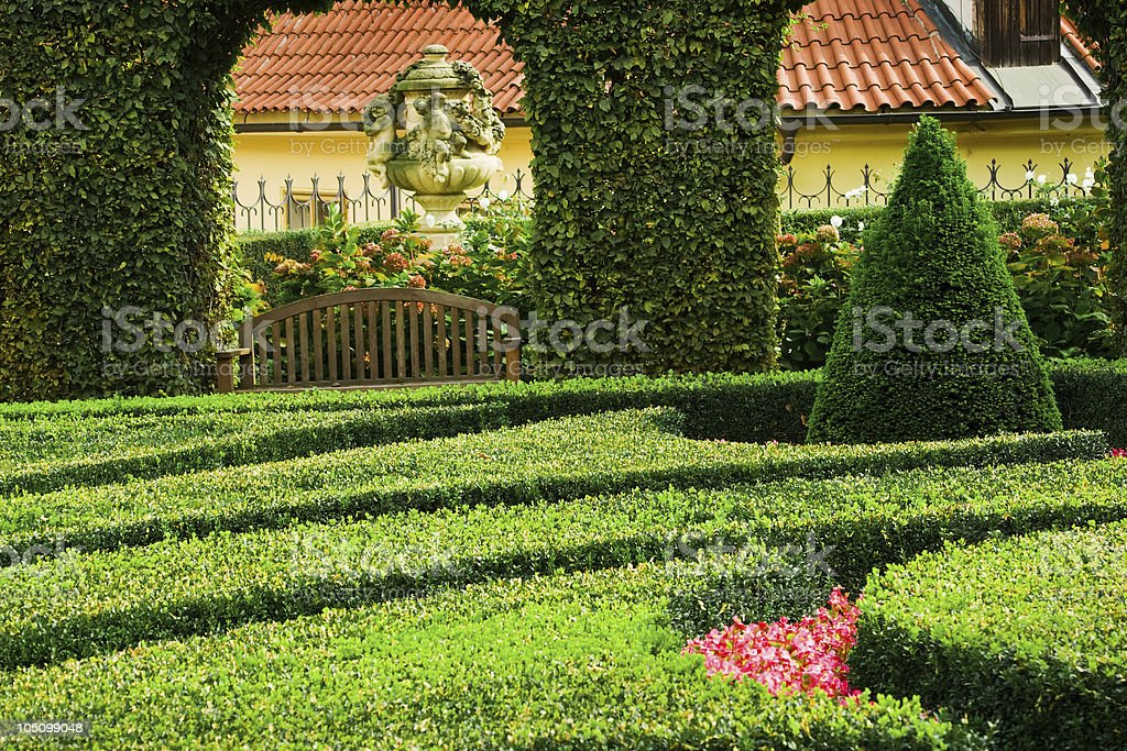 European garden royalty-free stock photo