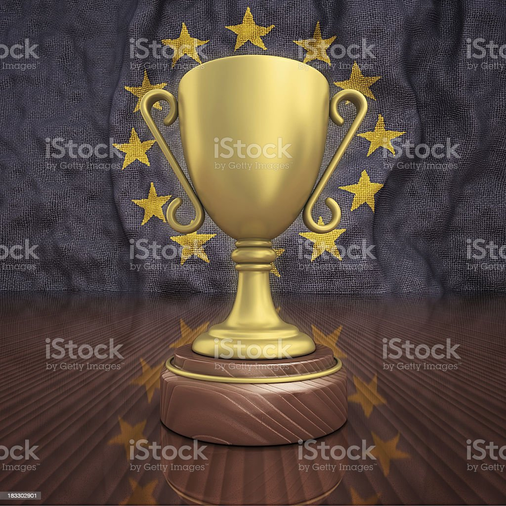 european gold trophy royalty-free stock photo