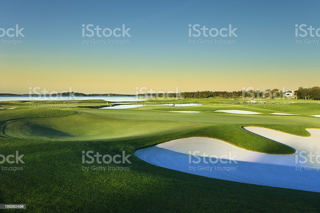 European Golf course stock photo