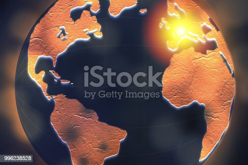 istock European highlighted on dark globe for internet connection and worldwide connection concept. 996238528