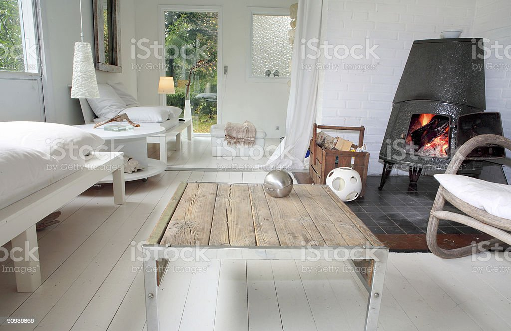 European house stock photo