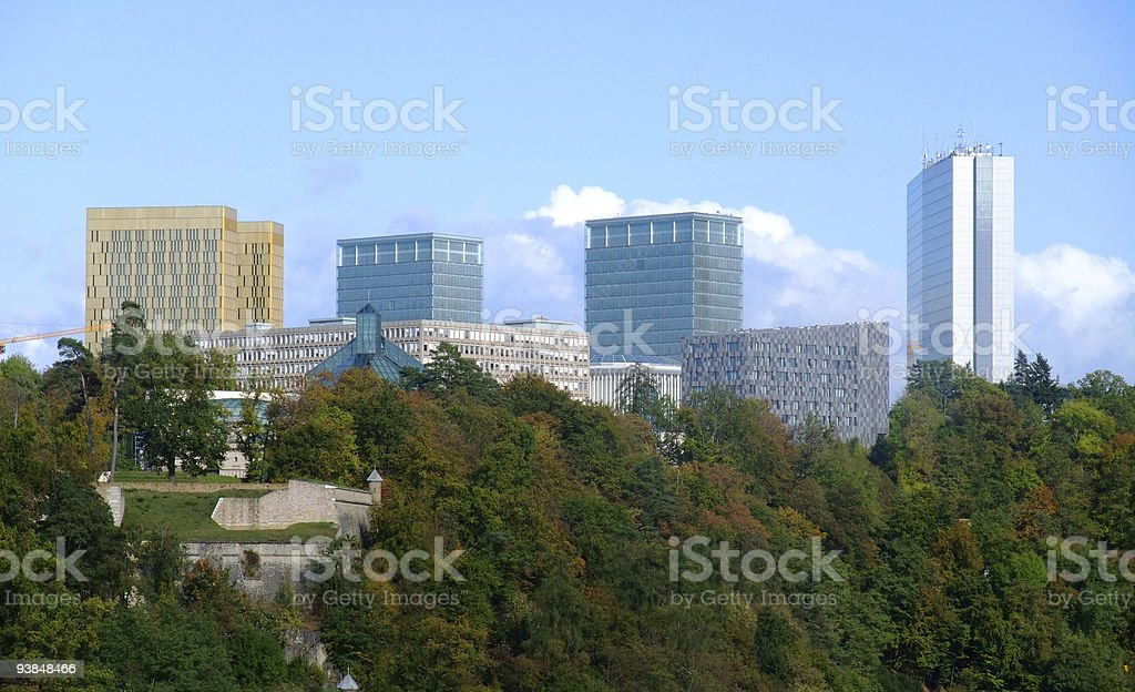 European institutions buildings - Kirchberg  Luxembourg city stock photo