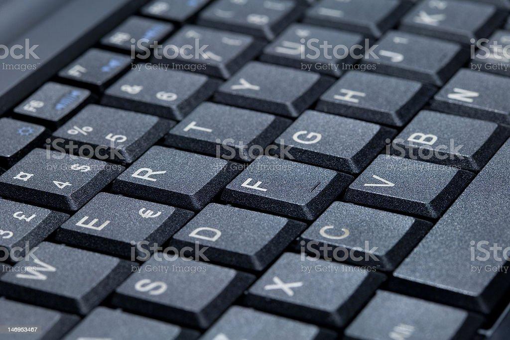 European Keyboard Detail stock photo