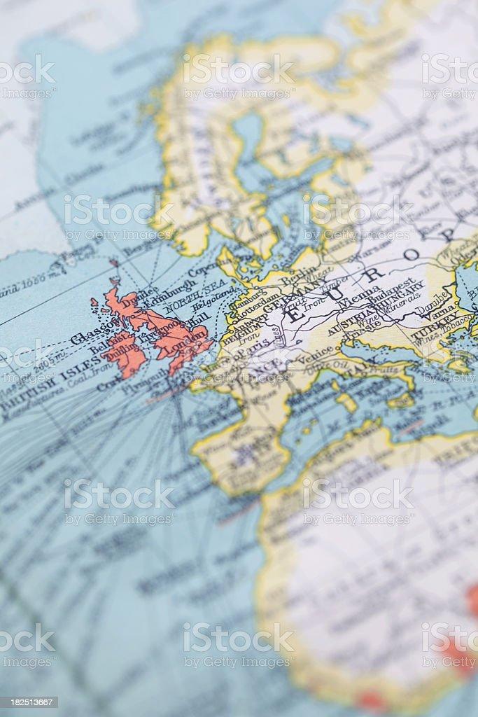 European Map, Focus On The UK stock photo