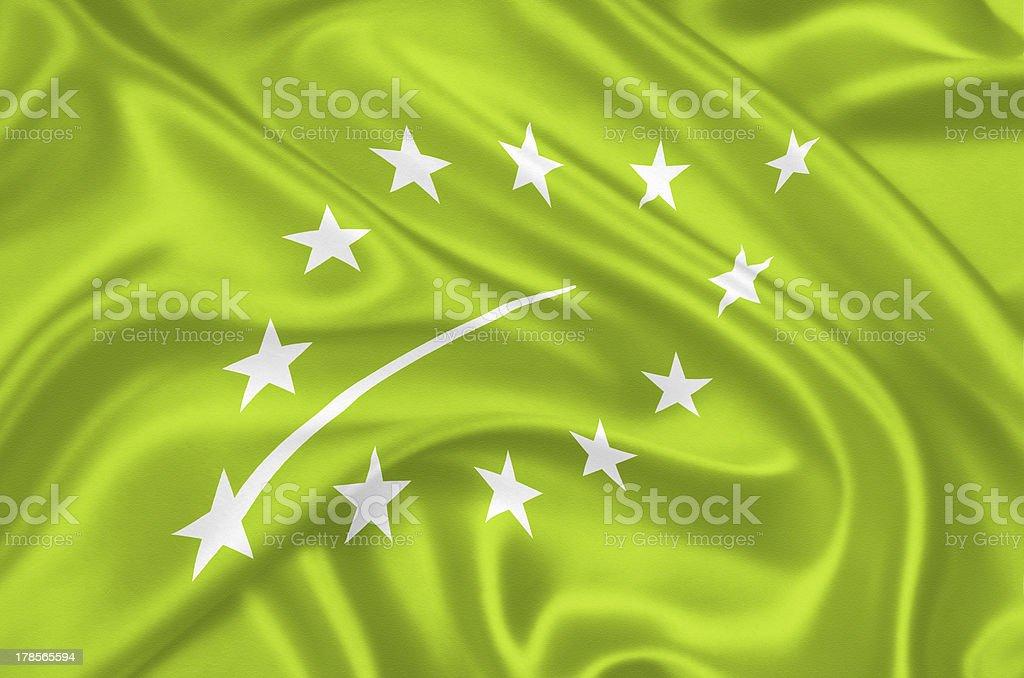 European new organic logo stock photo