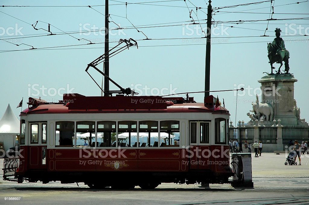 European old styled cable car royalty-free stock photo