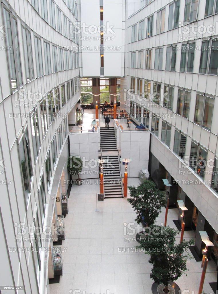 European Parliament Building Atrium royalty-free stock photo
