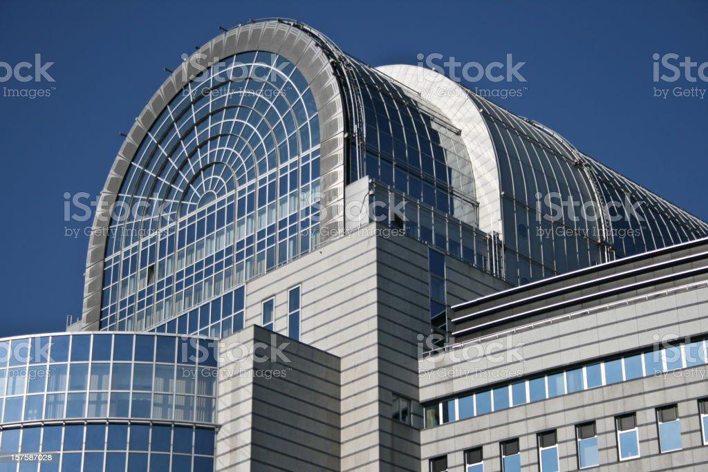 European Parliament Building Brussels Belgium stock photo