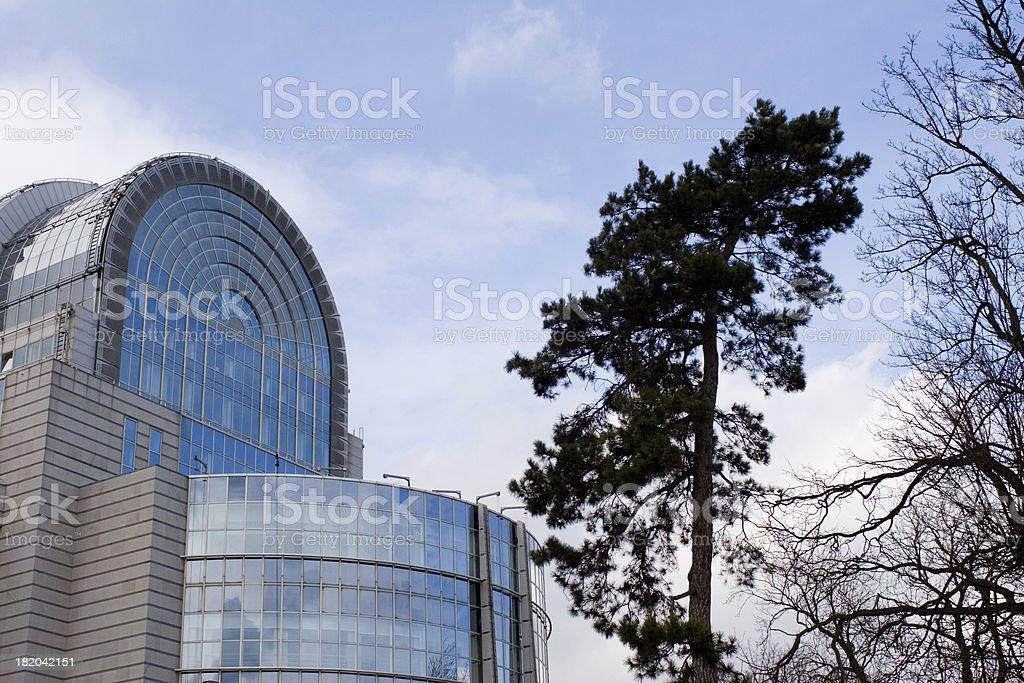 European Parliament building royalty-free stock photo