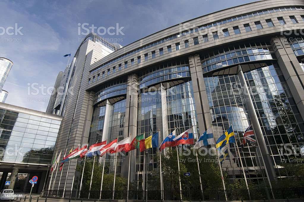 European Parliament in Brussels royalty-free stock photo