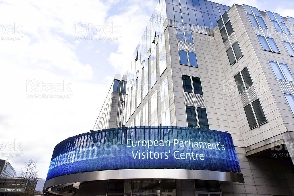 European Parliament's visitors' Centre royalty-free stock photo