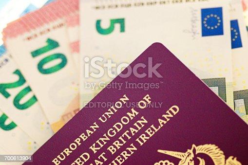 istock European Passport and Euros 700613904