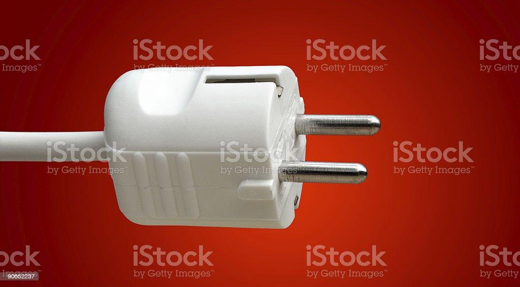 European Power Plug royalty-free stock photo