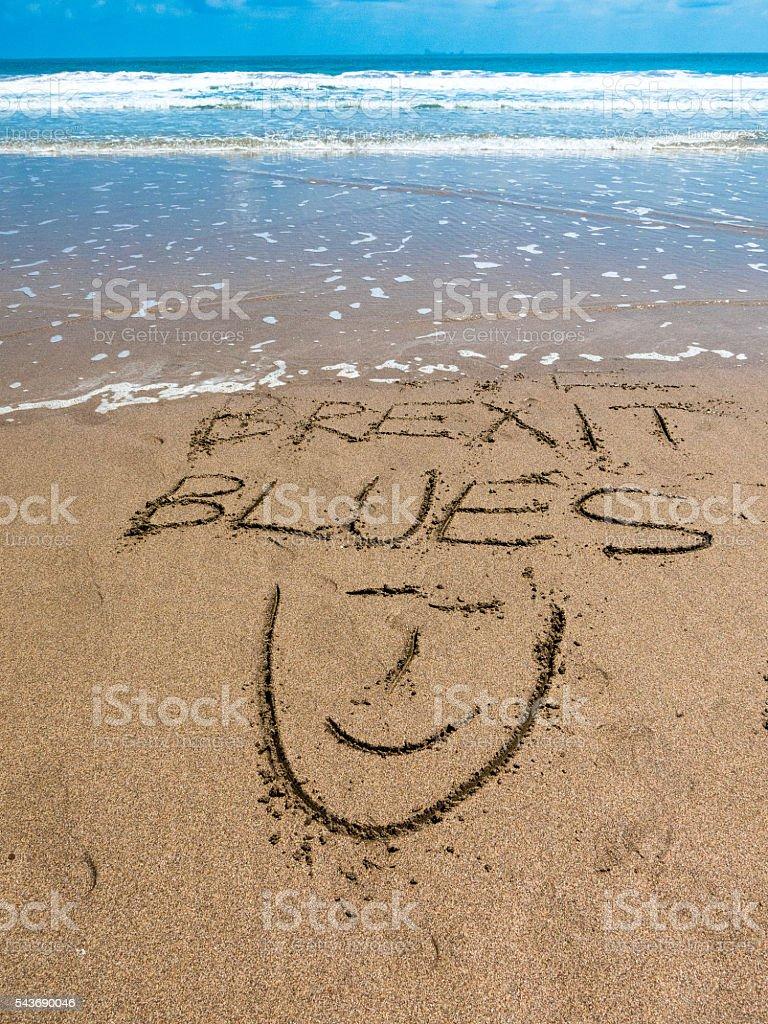 European Referendum Brexit Blues Vacation Cure stock photo