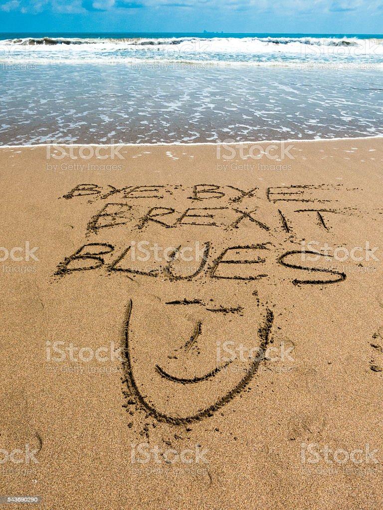 European Referendum Brexit Blues Vacation Fix stock photo