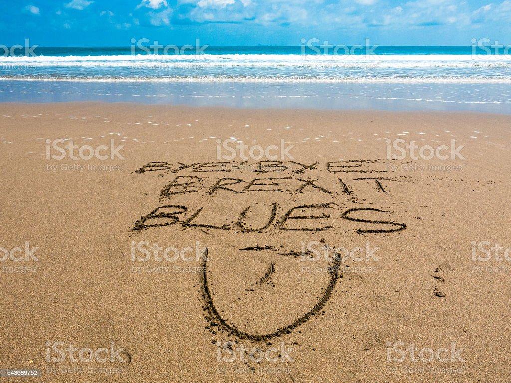 European Referendum Vacation Brexit Blues stock photo