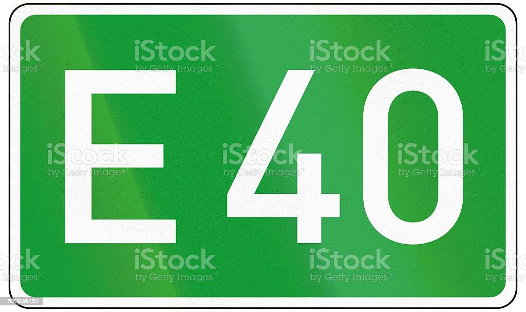 European Road 40 stock photo