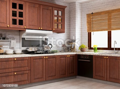 European rustic kitchen design renderings