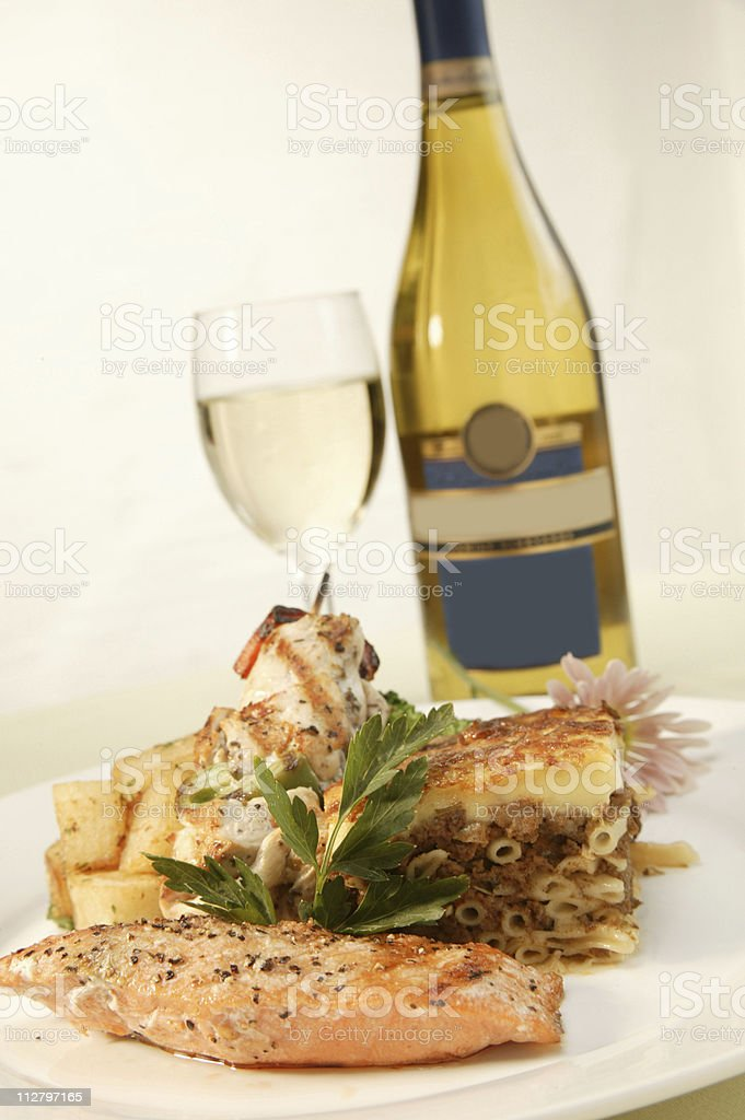 European Salmon Cuisine - 2 royalty-free stock photo